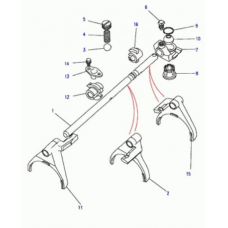 Land rover boite de vitesses Discovery 1, 2 et Range P38 (FTC4596)
