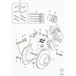 tole de protection-disque frein Defender 90, 110, 130 et Discovery 1