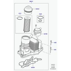 ensemble refroidisseur/filtre huile