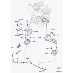 support-suspension de moteur