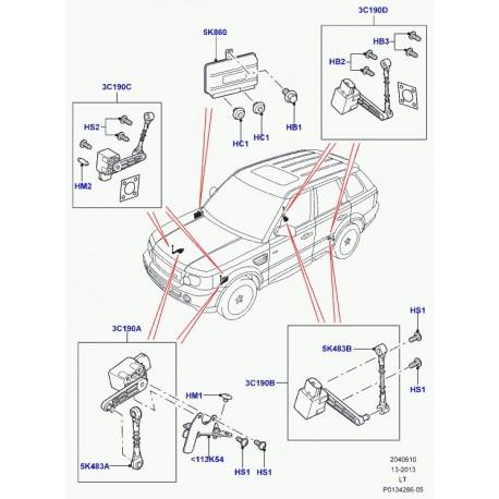 S/'adapter LAND ROVER DISCOVERY MK3 /& Range Rover Sport Arrière Droite Hauteur Capteur de niveau
