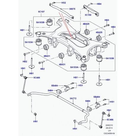 Land rover bague-barre stabilisatrice (LR034392)