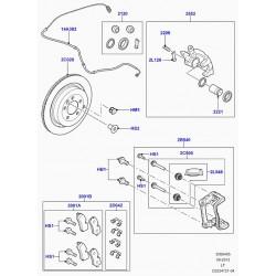 disque de frein arriere roues 18