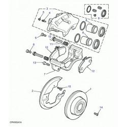 Land Rover Discovery 2 TD5//V8 Arrière Étrier De Frein Joint Kit-STC1909
