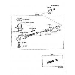 ens. de maitre-cylindre d'embrayage