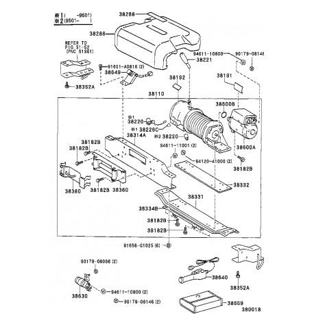Toyota couvercle de treuil (3820860060)