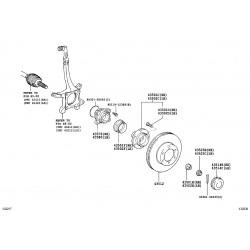 ensemble roul. , essieu avant rotor avec abs droit
