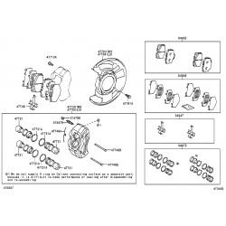 ens. de cylindre gauche de frein a disque