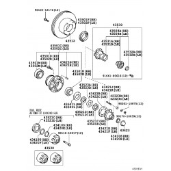 roulement (pour exterieur de moyeu d'essieu avant dr)