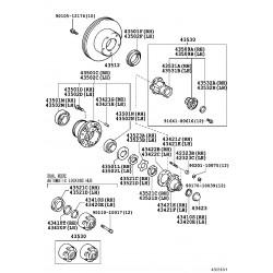 roulement (pour interieur de moyeu d'essieu avant dr)