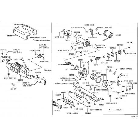 Toyota bouchon pression (p. couvercle carter de pignon treuil) (9033155001)