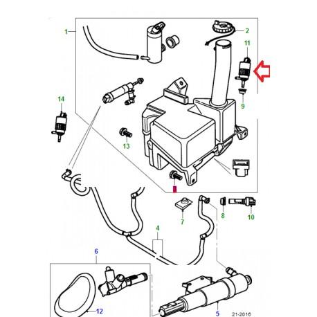 X AUTOHAUX 12826943 Pompe lave-glace pour v/éhicule