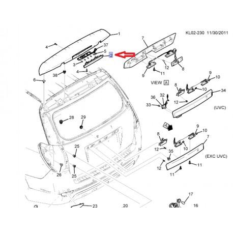 Chevrolet 3éme feu stop (96962100)