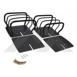 kit 2 grilles protection feux arr noires