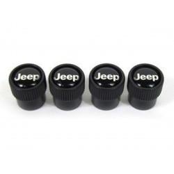 capuchon valve de roue noir logo JEEP