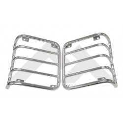 kit 2 grilles protection feux arr inox