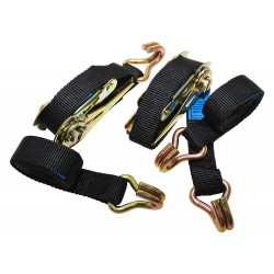 2m ratchet straps pair