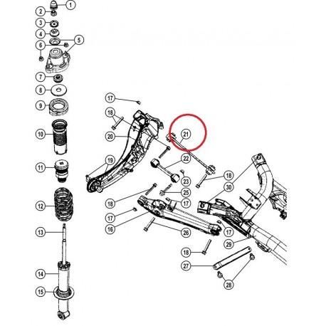 Allmakes 4x4 tirant pont arriere superieur gauche / droit (5105271AC)