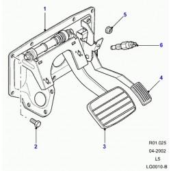 caoutchouc pedale de frein transmission