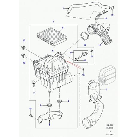 Land rover collier de tuyau flexible (CN100909)