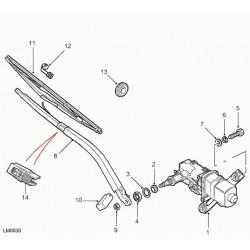 moteur d'essuie-glace avec support
