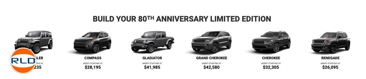 Jeep 80 ans ça se fête en series limitées